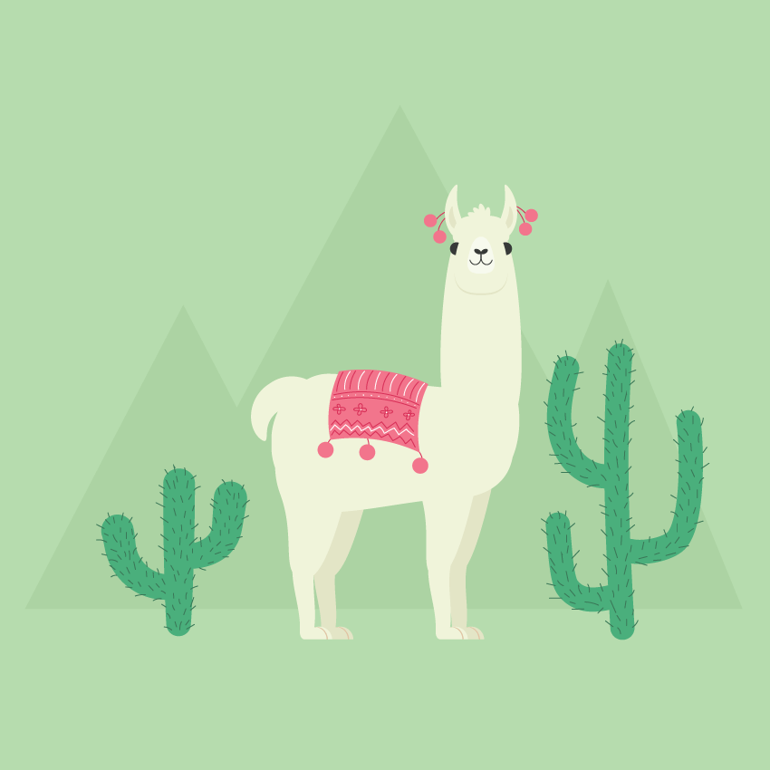 Cute Llama Wallpaper Desktop How To Create A Llama Illustration In Adobe Illustrator