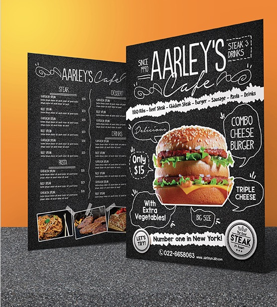 27 Restaurant Menu Templates With Creative Designs - food menu template