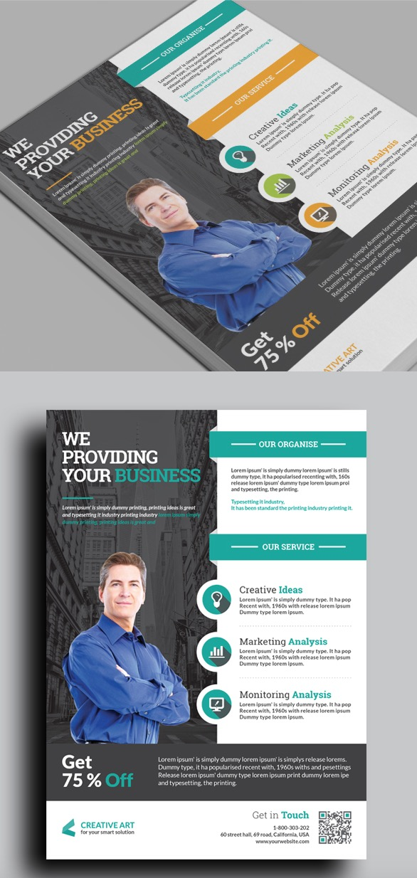 20 Business Flyer Templates With Creative Layout Designs - informational flyer template