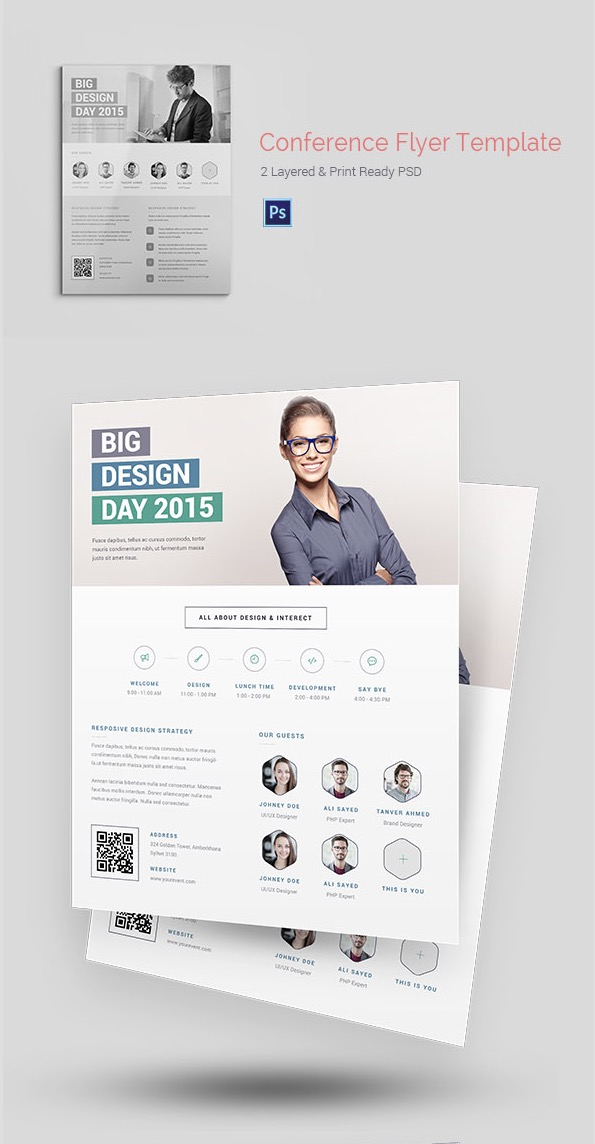 20 Business Flyer Templates With Creative Layout Designs - web flyer template