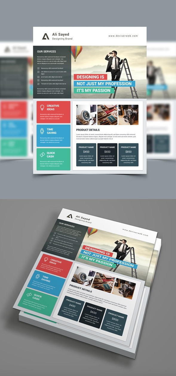 20 Business Flyer Templates With Creative Layout Designs - advertising flyer template