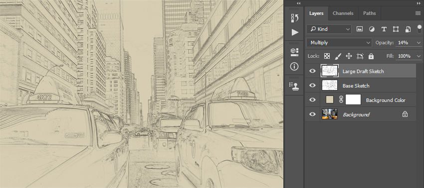 How to Create a Sketch Effect Action in Adobe Photoshop - background sketches