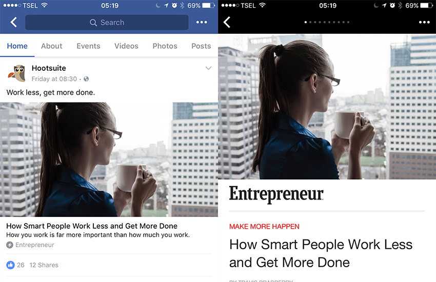 How to Publish Content With Facebook Instant Articles - Work Articles