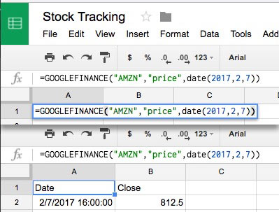 How to Track Stock Data in Google Sheets - With GOOGLEFINANCE Function