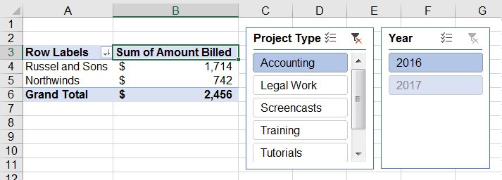 How to Insert Slicers in Microsoft Excel PivotTables