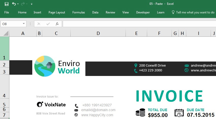 How to Create an Invoice in Excel Quickly (From a Template)