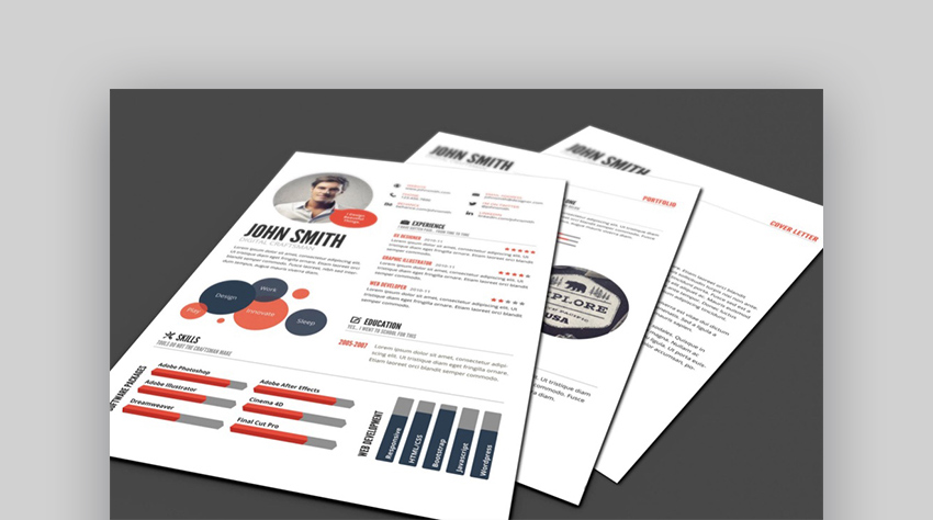 18 Best Photoshop (PSD) Resume Templates (With Photo Formats)