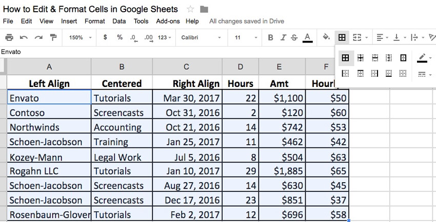 How to Edit  Format Cells in Google Sheets Spreadsheets