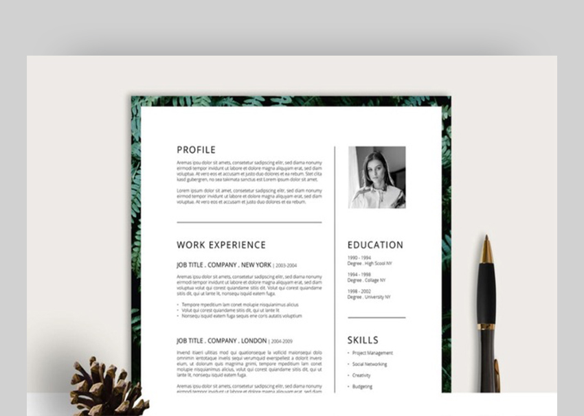 20 Simple Resume Templates (Easy to Customize  Edit Quickly) - Simple Graphic Design Resume