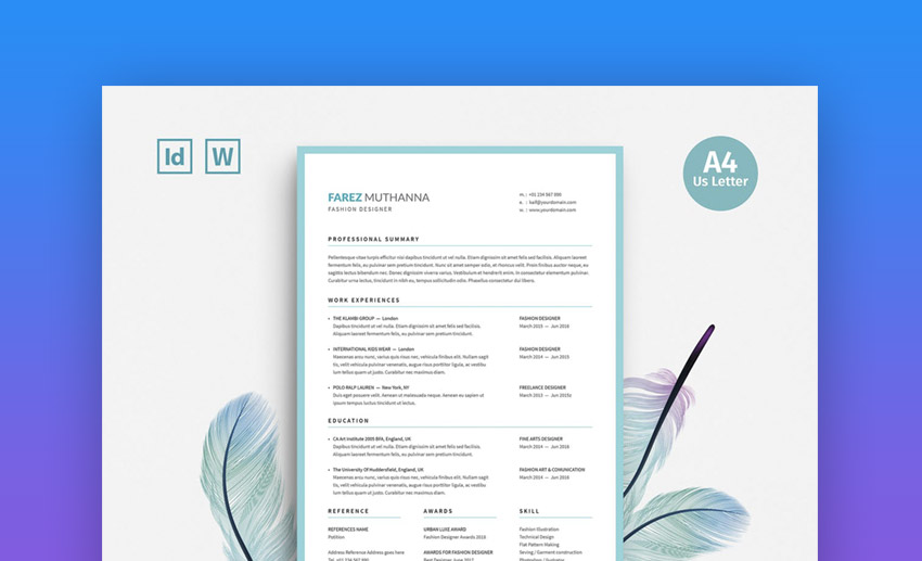 20 Cool  Colorful Resume Templates (To Stand Out Creatively)