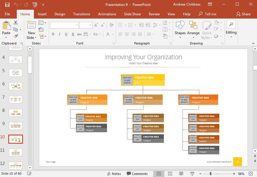 How to Create Organizational Charts in PowerPoint With Templates