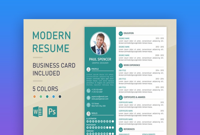 one page resume format for freshers