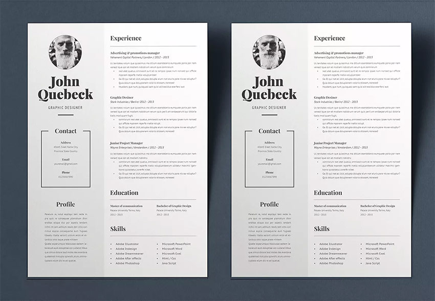 Best in 2018 Professional Resume Design Templates (Cool + Modern)