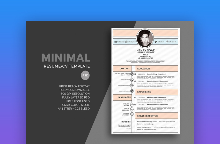 resume template for video game design