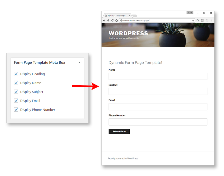 Dynamic Page Templates in WordPress, Part 3 - phone number template