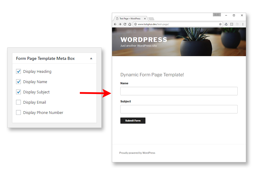 Dynamic Page Templates in WordPress, Part 3 - name and phone number template