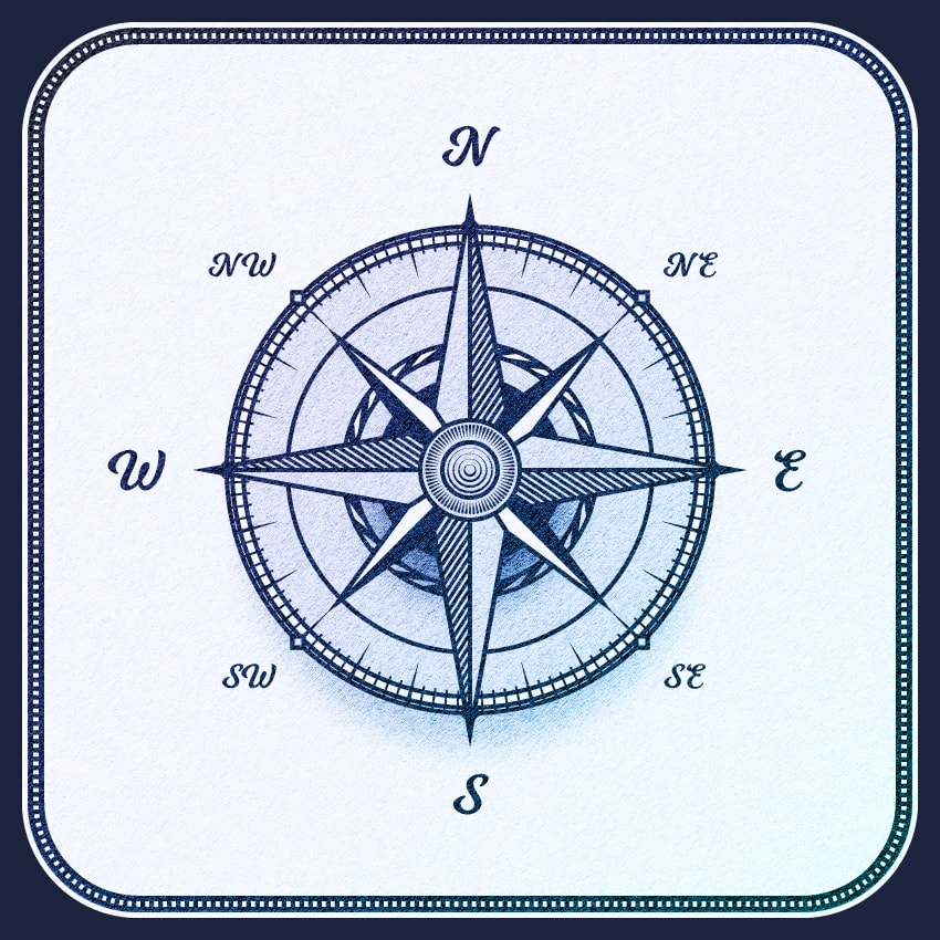 How to Create a Wind Rose Compass Symbol Illustration in Adobe