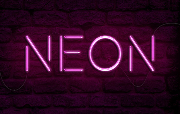 How to Create a Realistic Neon Light Text Effect in Adobe Photoshop - neon lettering