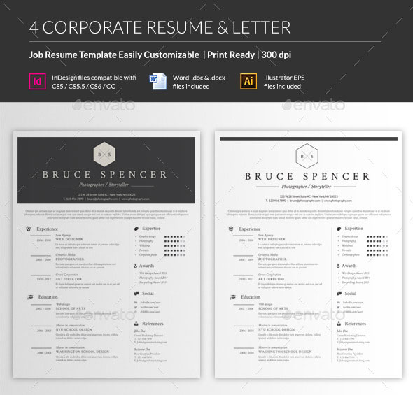 Personalize a Modern Resume Template in MS Word - corporate resume template