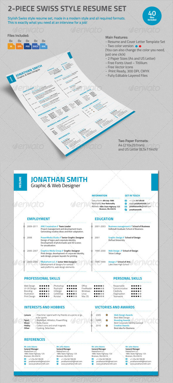 Personalize a Modern Resume Template in MS Word - microsoft word template resume