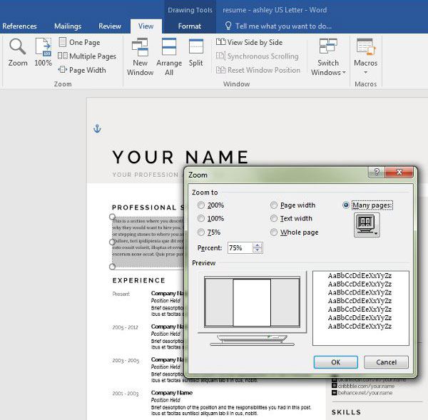 Personalize a Modern Resume Template in MS Word - How To Do A Resume On Microsoft Word