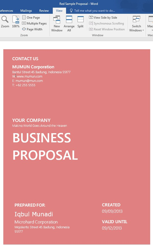 How to Customize a Simple Business Proposal Template in MS Word - proposal template in word