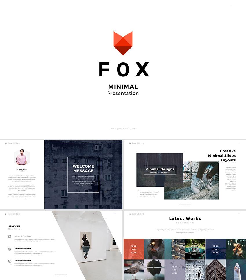 Fox ultimate creative google slides template design