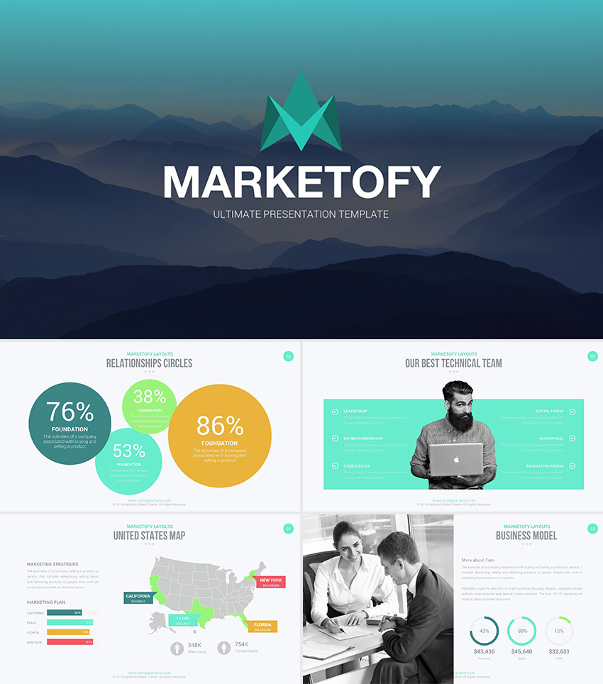 Marketofy ultimate google slides theme download set