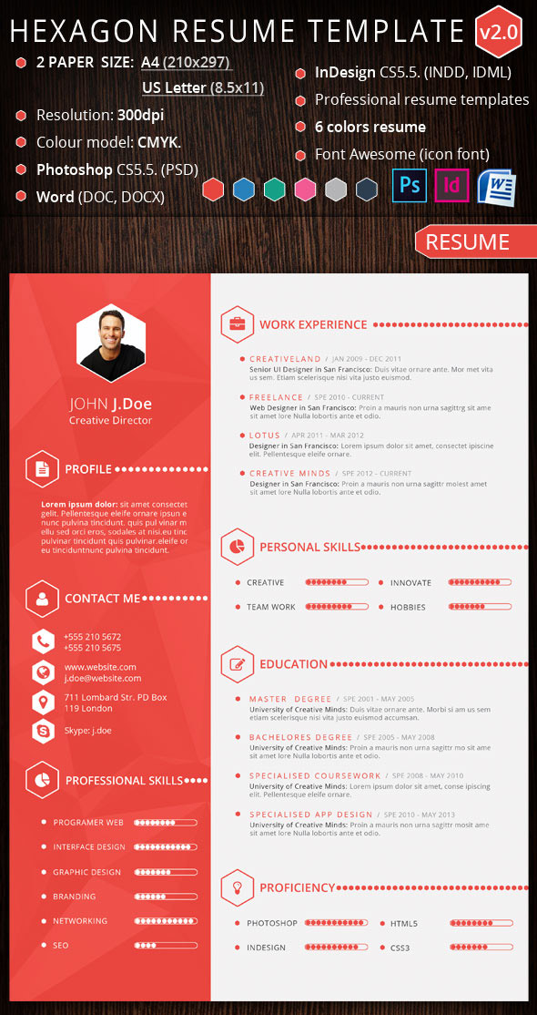 15 Creative, Infographic Resume Templates - graphic designer resume template