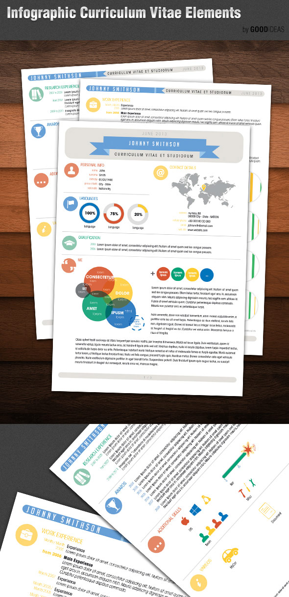 infographic resume photoshop template