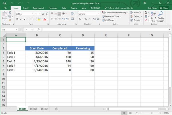 Cómo Hacer un Diagrama de Gantt en Excel - diagrama de gantt en excel