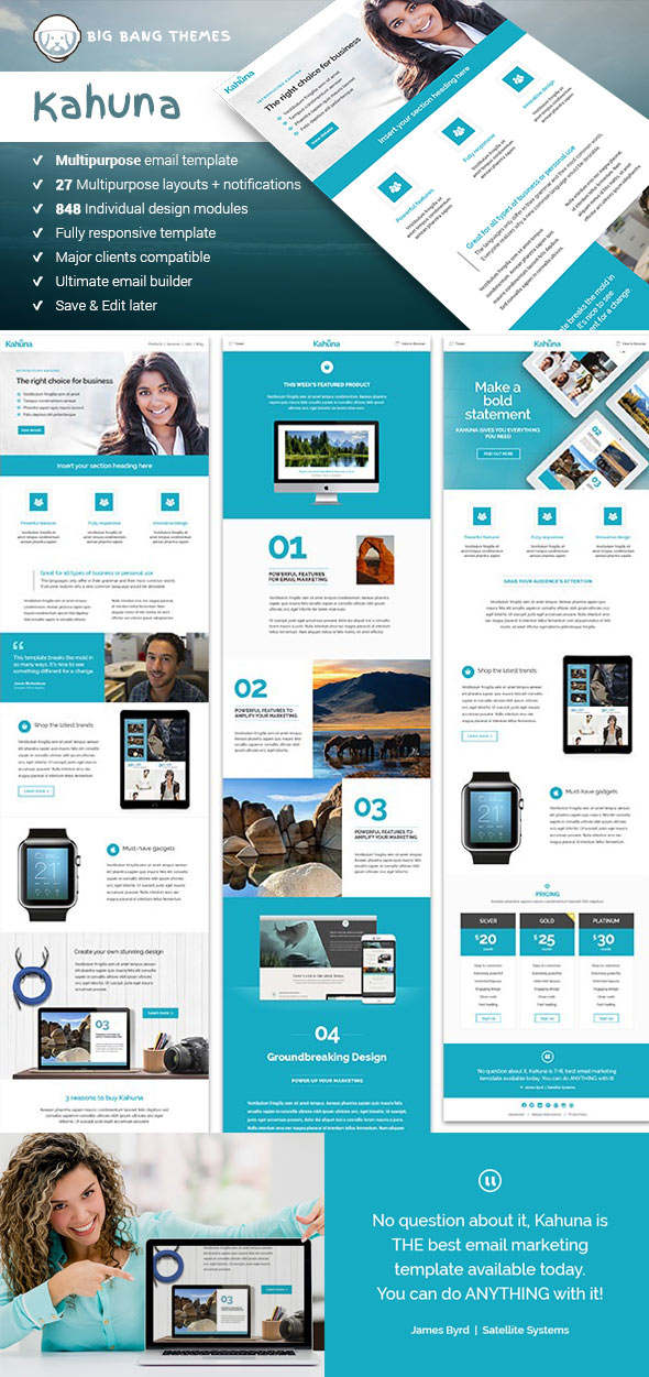 20 Responsive Email Newsletter Templates\u2014For 2019 Marketing Campaigns