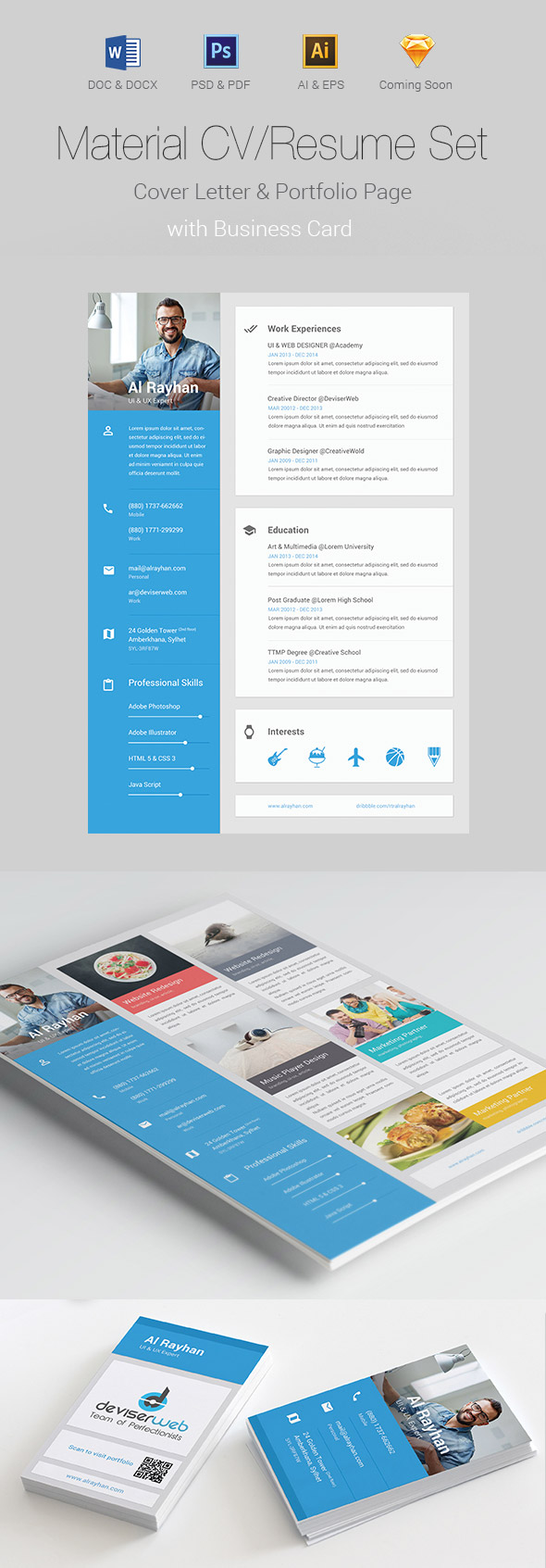 indesign version template cv