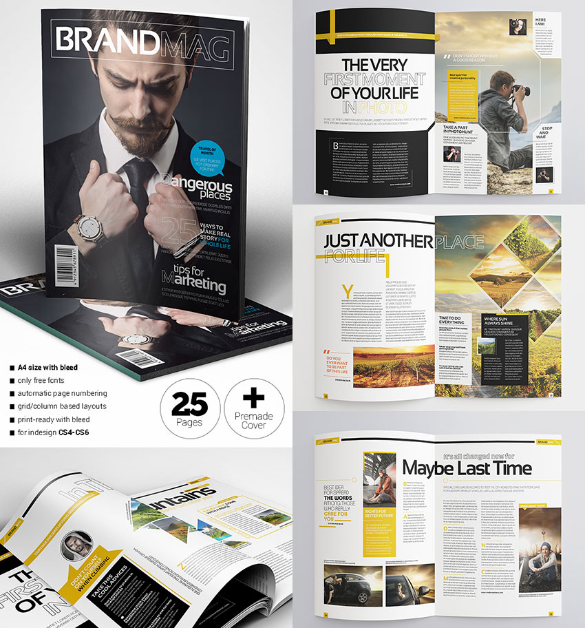 30 Magazine Templates With Creative Print Layout Designs