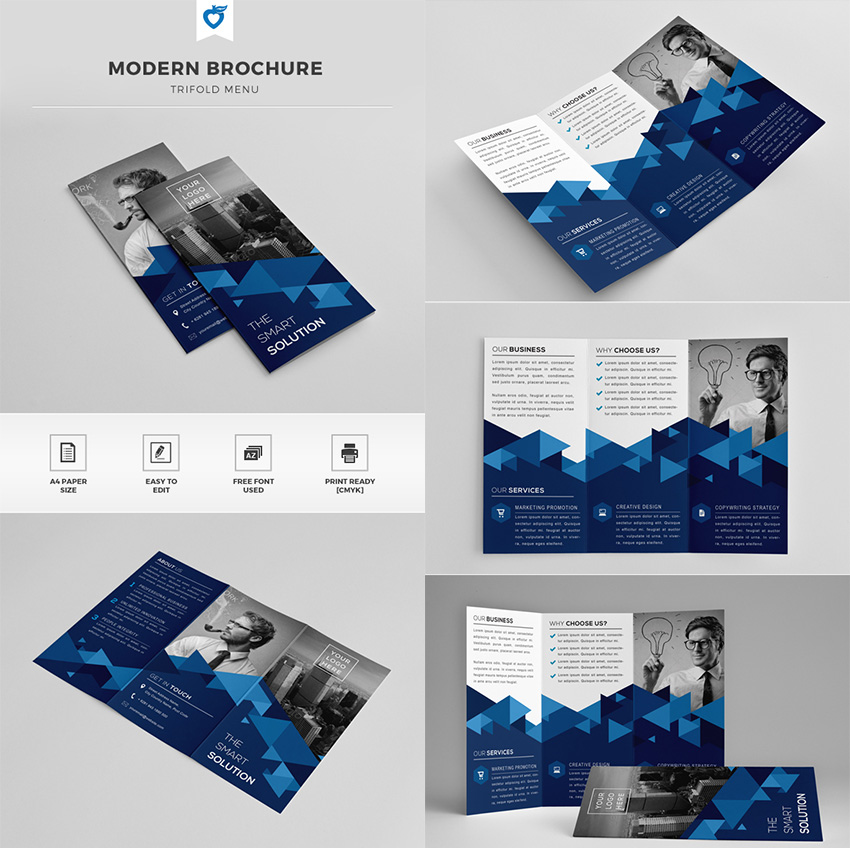 20 Best InDesign Brochure Templates - For Creative Business Marketing - Product Brochure Template
