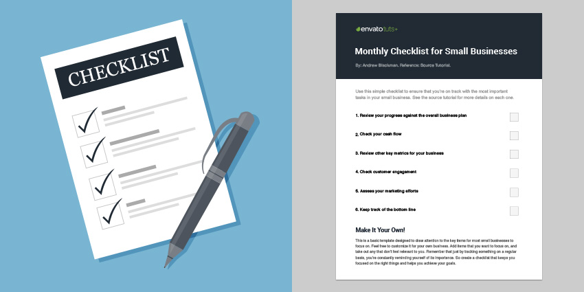 How to Run a Healthy Small Business\u2014With a Monthly Review Checklist