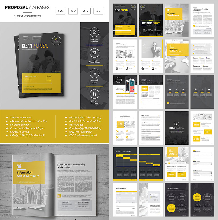 15 Best Business Proposal Templates For New Client Projects - microsoft business proposal template