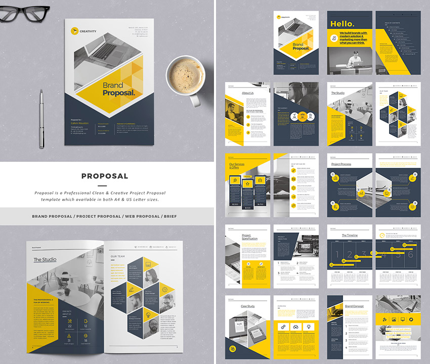 15 Best Business Proposal Templates For New Client Projects - graphic design proposal template