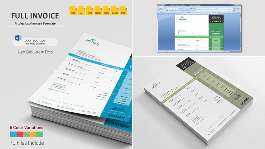 15 Simple Invoice Templates Made For Microsoft Word