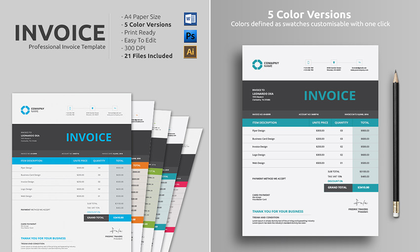 15 Simple Invoice Templates Made For Microsoft Word - free invoice word template