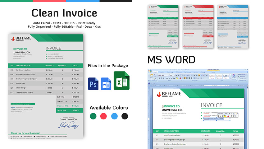 15 Simple Invoice Templates Made For Microsoft Word - microsoft office small business templates