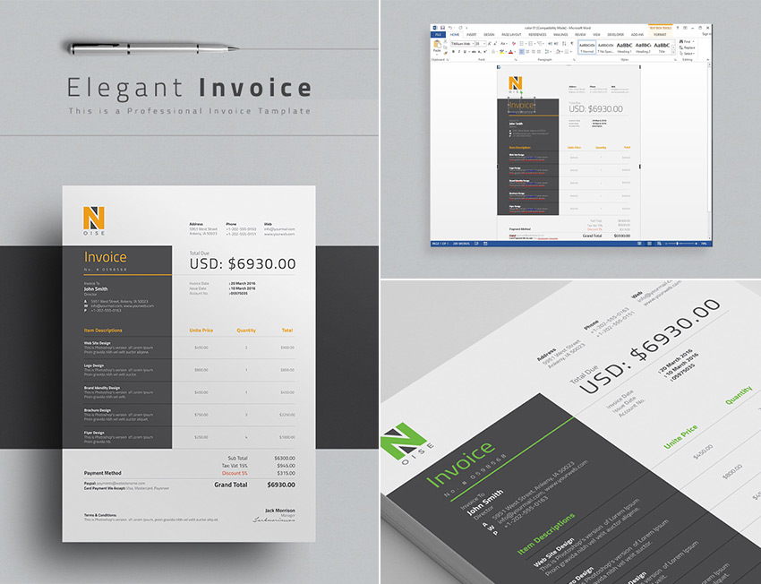 invoice template for free