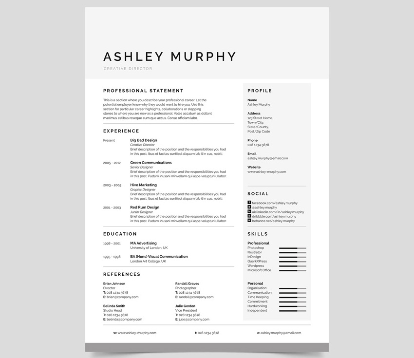 30+ Best Resume Tips That Will Get You Noticed and Hired - best font for a resume