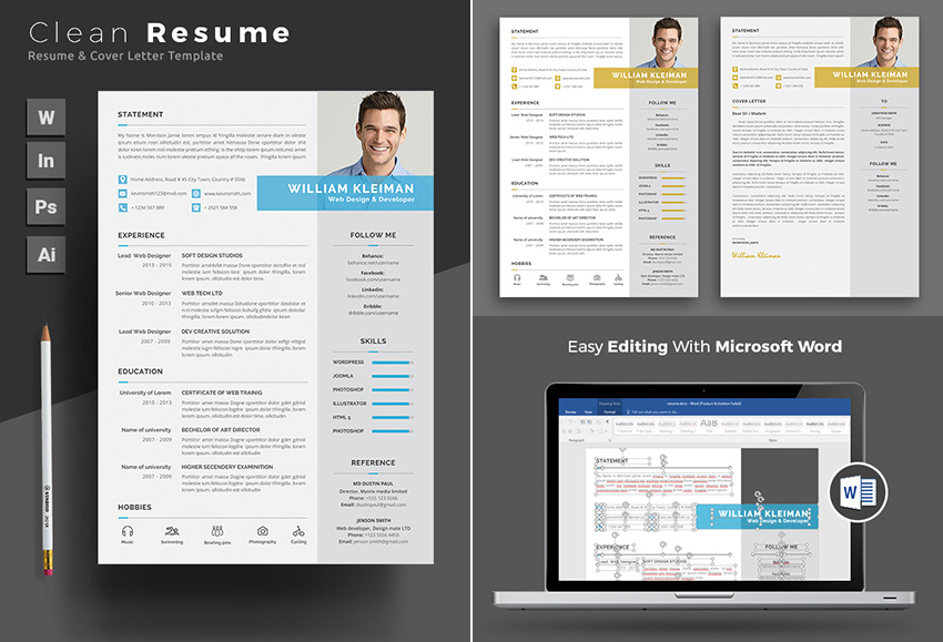 20+ Professional MS Word Resume Templates With Simple Designs - resume samples ms word