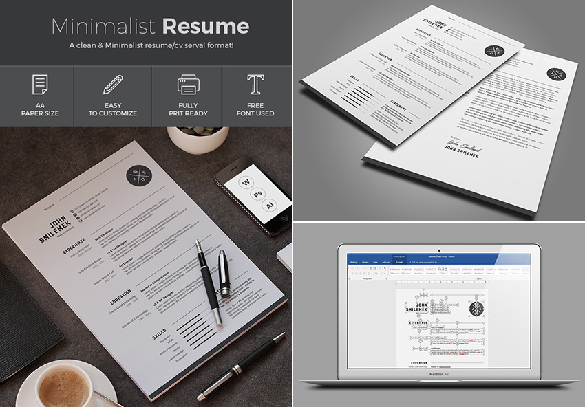 resume simple templates for word