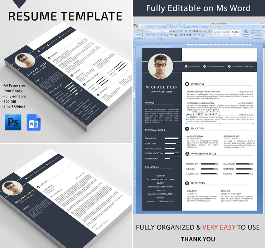 Resume Template 92 Free Word Excel Pdf Psd Format 20 Professional Ms Word Resume Templates With Simple