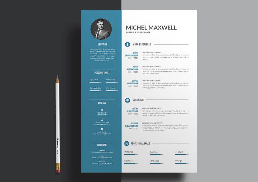 word resume template 2 columns