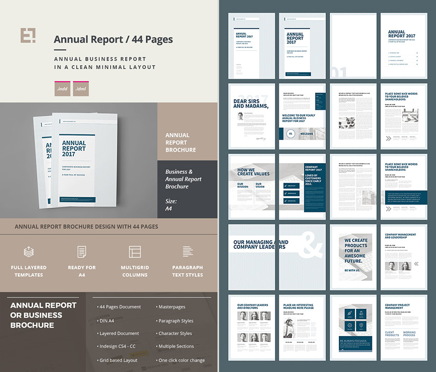 15+ Annual Report Templates - With Awesome InDesign Layouts - business reporting templates