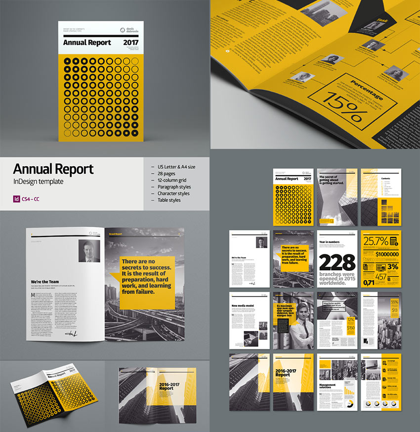 15+ Annual Report Templates - With Awesome InDesign Layouts - annual report template design