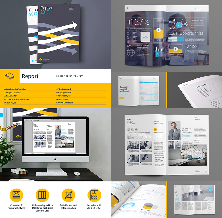 15+ Annual Report Templates - With Awesome InDesign Layouts - free report templates